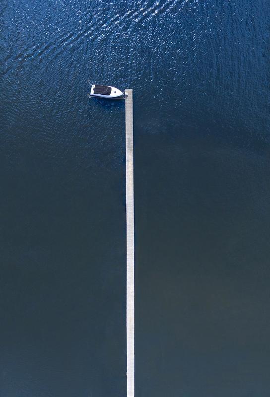 Lonely Boat acrylglas print