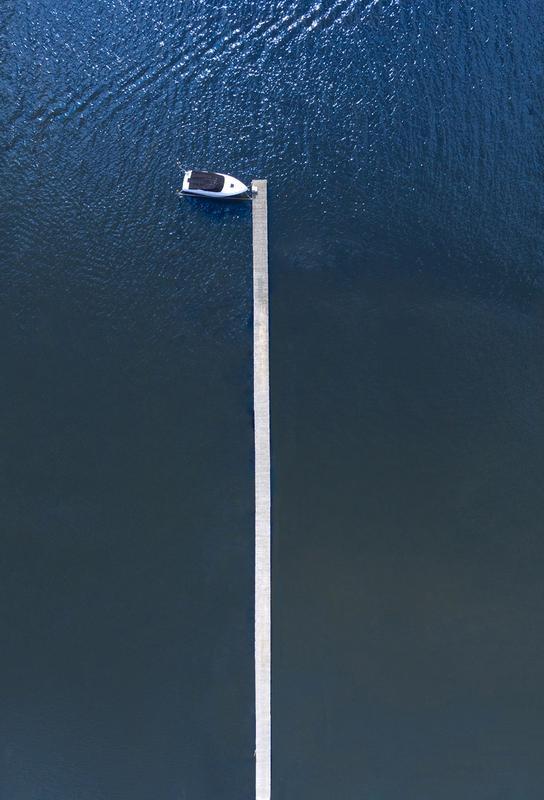 Lonely Boat alu dibond