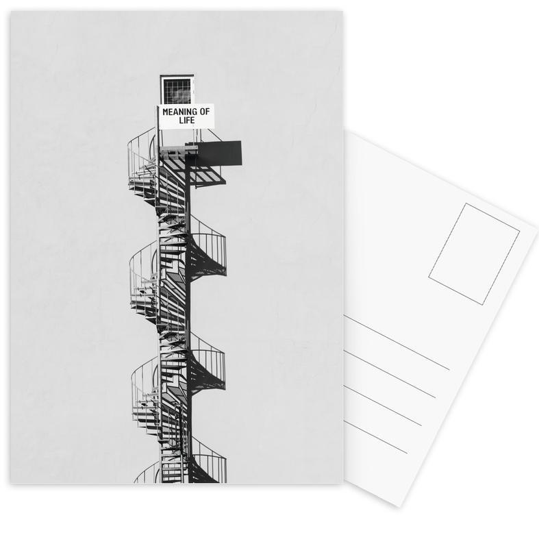 Architectonische details, Motivatie, Meaning of Life Black & White ansichtkaartenset