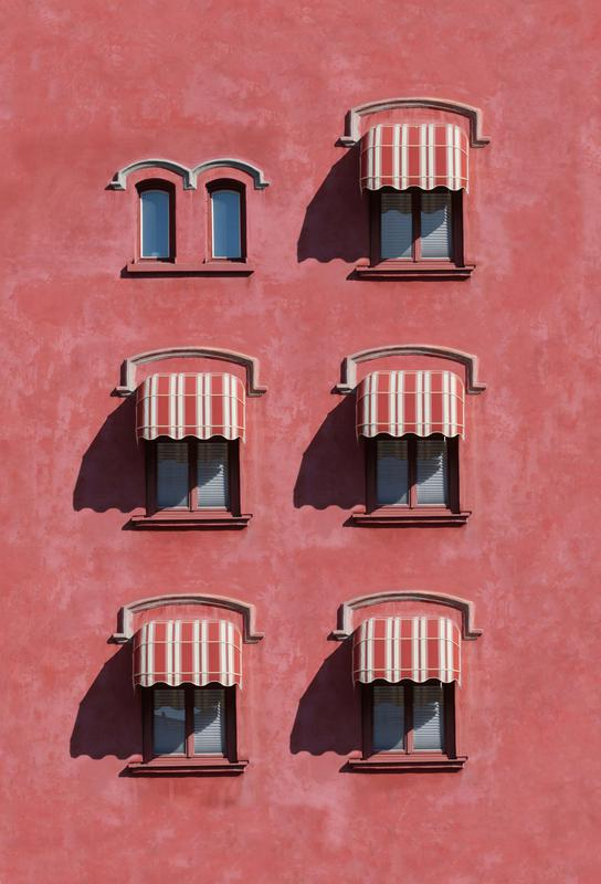 Red Vintage Wall -Alubild