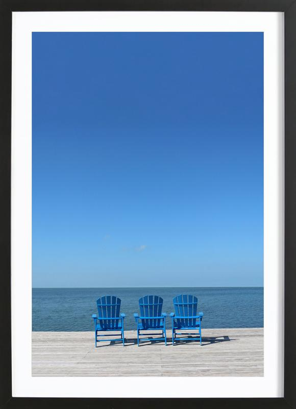 Ocean View -Bild mit Holzrahmen