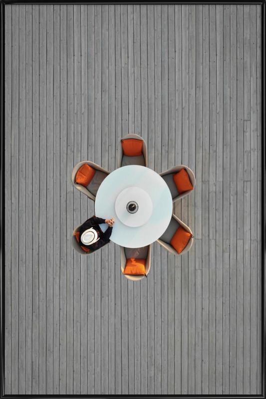 Lonely Lunch -Bild mit Kunststoffrahmen