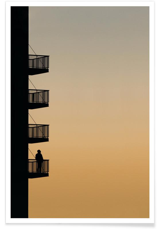 Architectural Details, Sunset Reflections Poster