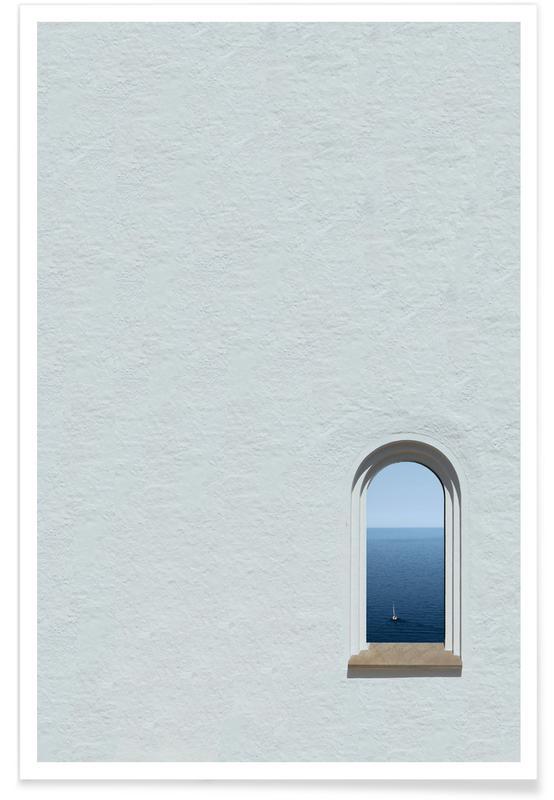 Architectonische details, White Ocean View poster