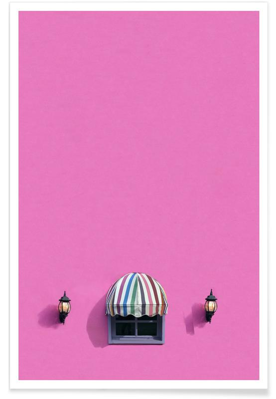 Architectural Details, Pink Shop Poster