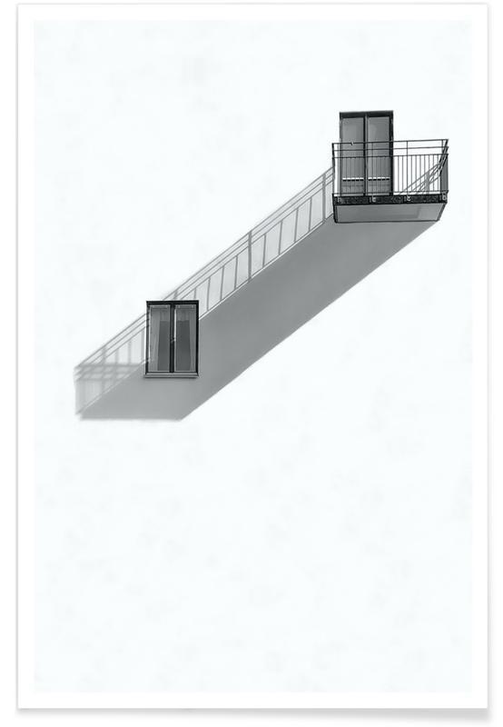 Architectonische details, Shadow Diagonal poster