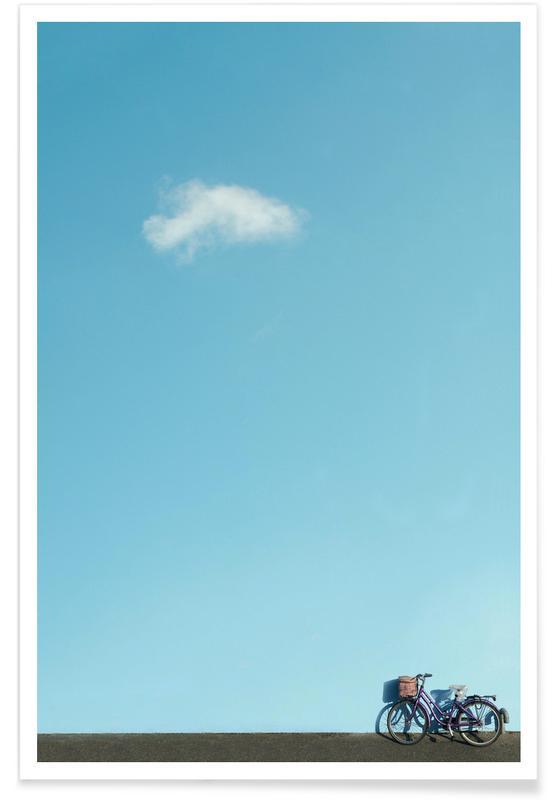Skies & Clouds, Sky Bike Poster
