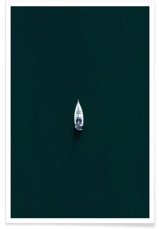 Bateaux, Boat From Above affiche