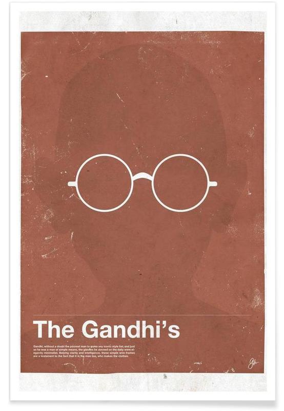 Personnages politiques, Lunettes de Gandhi affiche