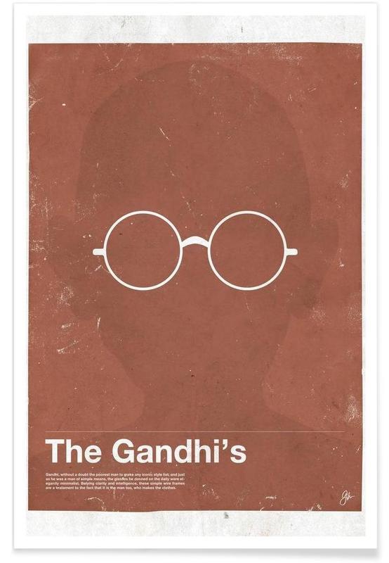 Gandhi-Brille -Poster