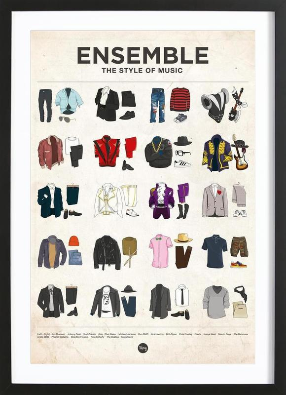 Ensemble ingelijste print