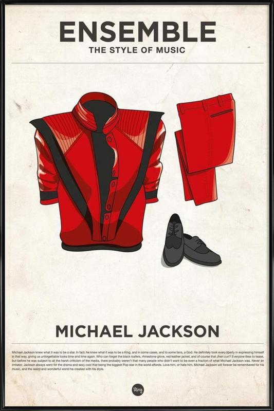 Ensemble Michael Jackson -Bild mit Kunststoffrahmen