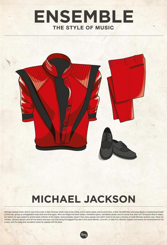 Ensemble Michael Jackson Aluminium Print