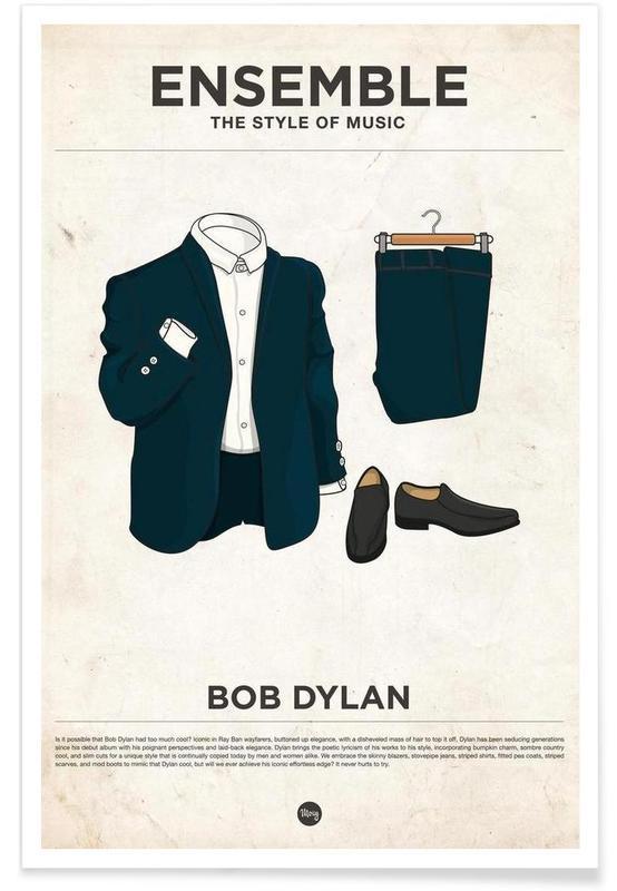 Style vestimentaire de Bob Dylan affiche