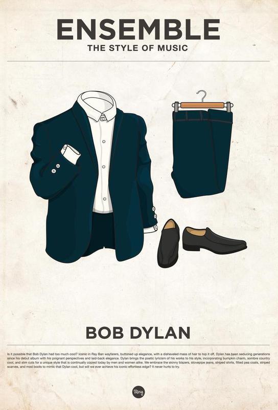 Ensemble Bob Dylan Aluminium Print