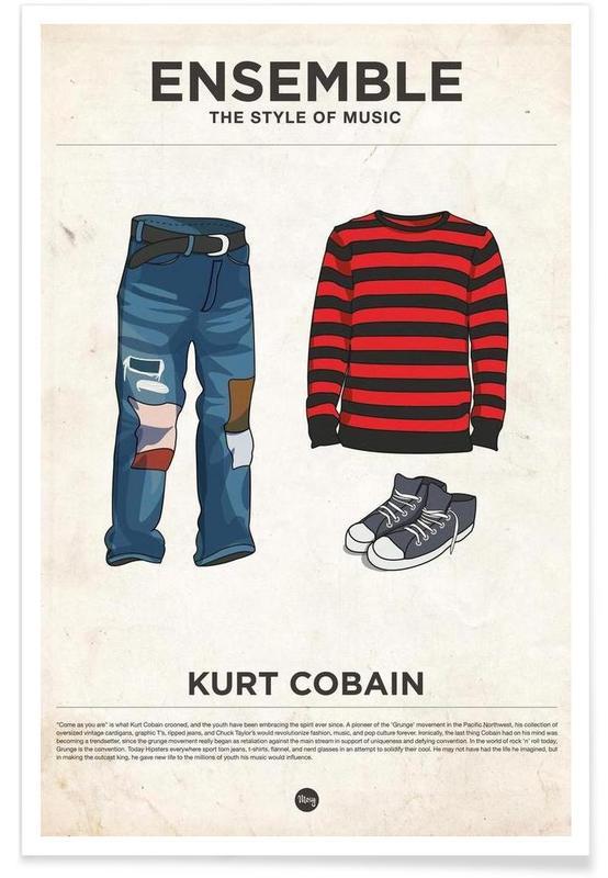 Rock, Style vestimentaire de Kurt Cobain affiche