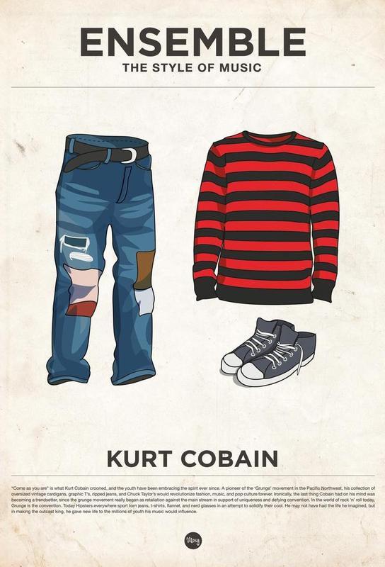 Ensemble Kurt Cobain -Acrylglasbild