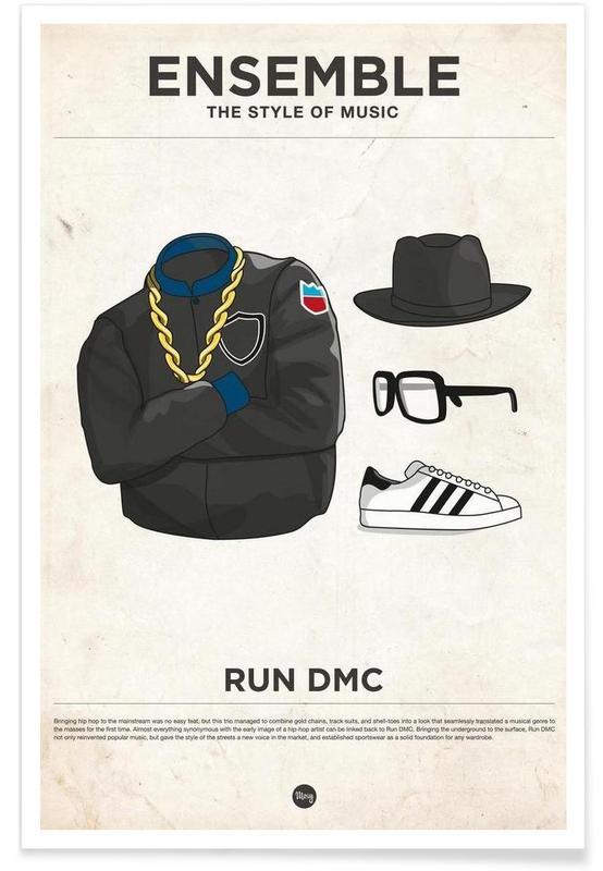 Style vestimentaire de Run DMC affiche