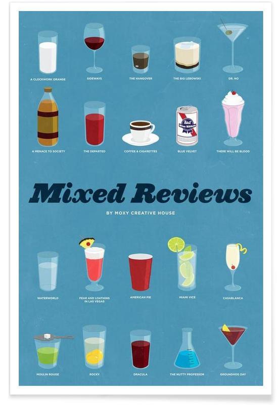 Beroemde cocktails poster