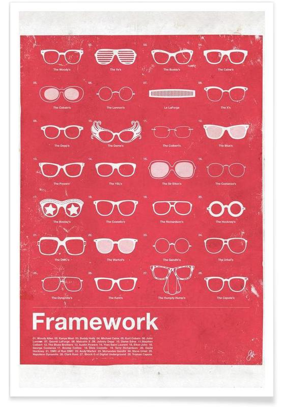 Famous Glasses Poster