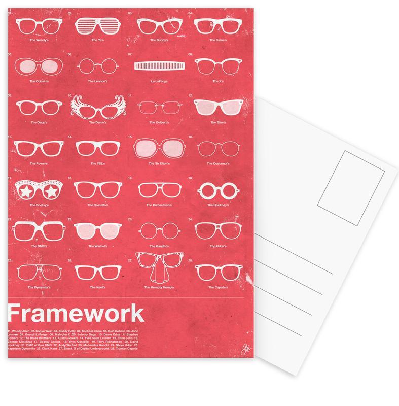 , Framework ansichtkaartenset