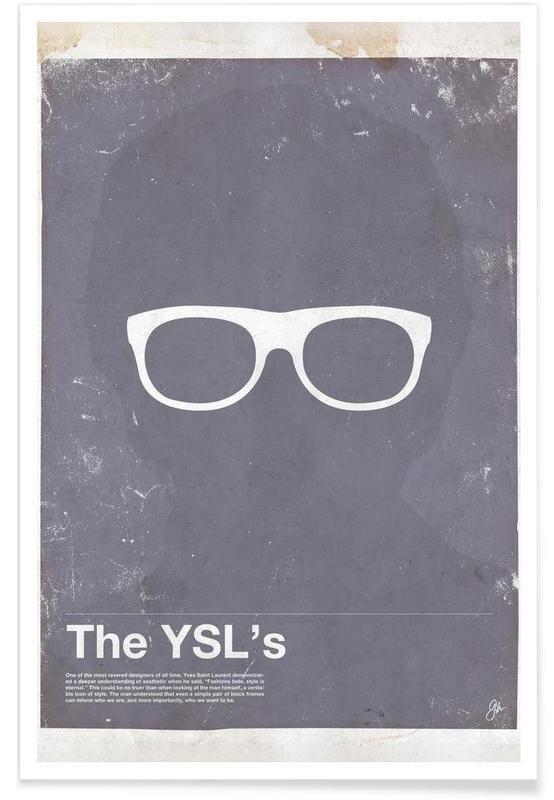 , Lunettes de YSL affiche