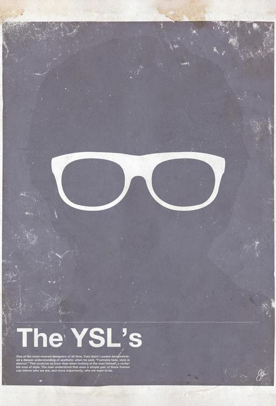 Framework YSL Aluminium Print