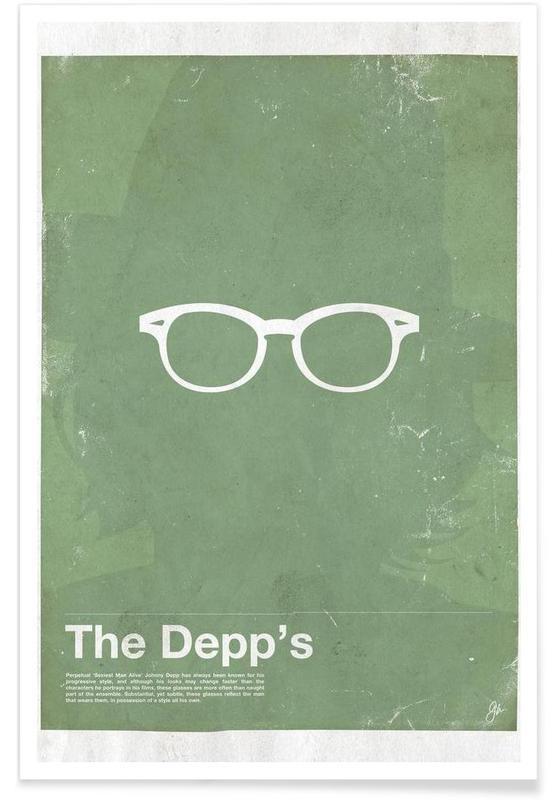 , Lunettes de Johnny Depp affiche