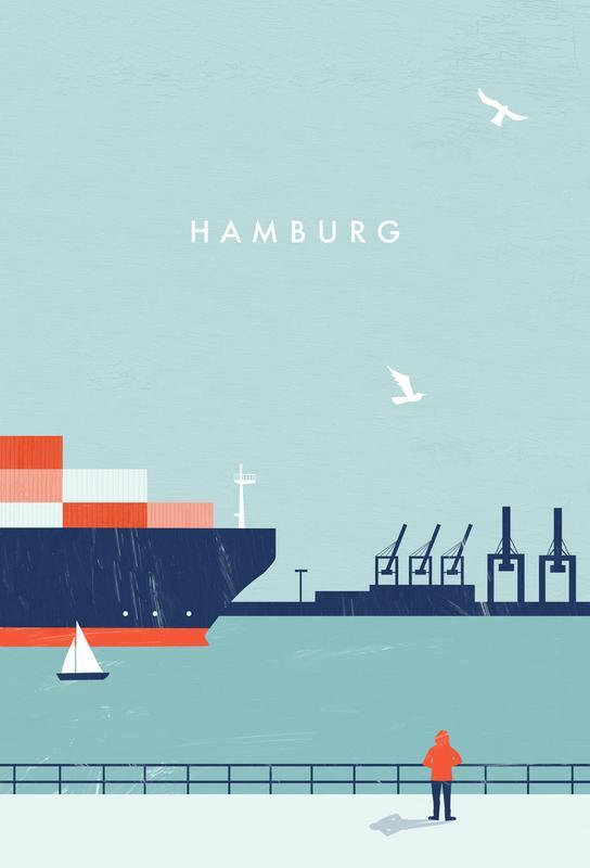 Hamburg -Acrylglasbild
