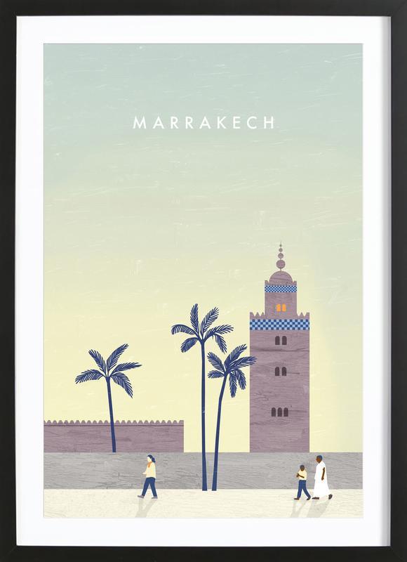 Marrakesch -Bild mit Holzrahmen