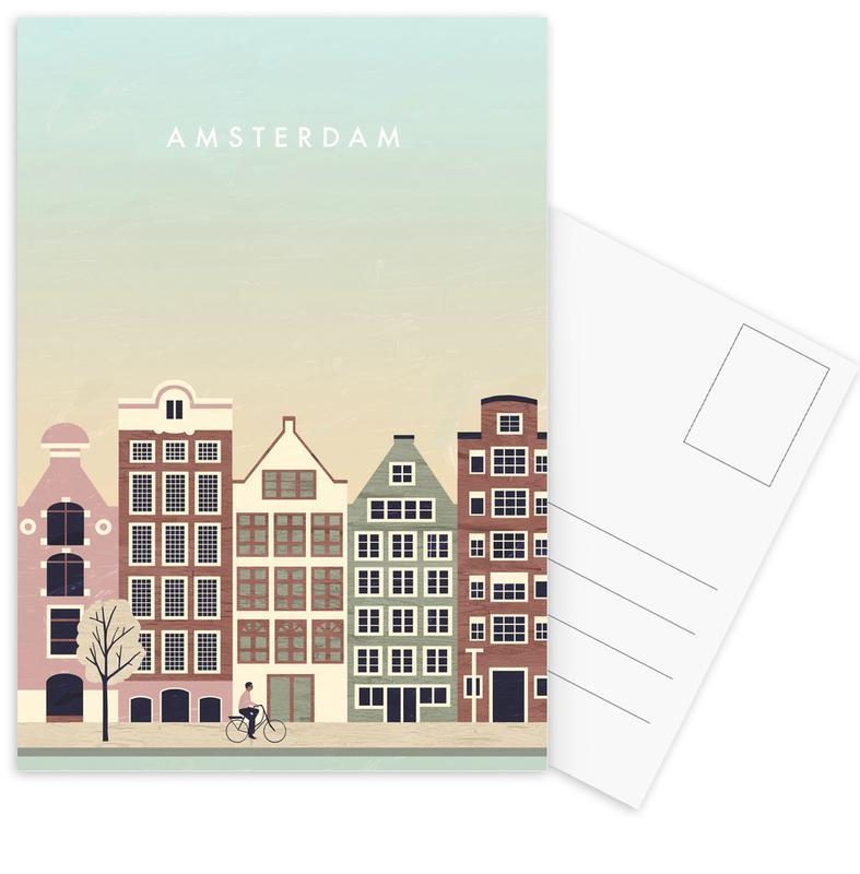Reizen, Vintage reis, Amsterdam ansichtkaartenset