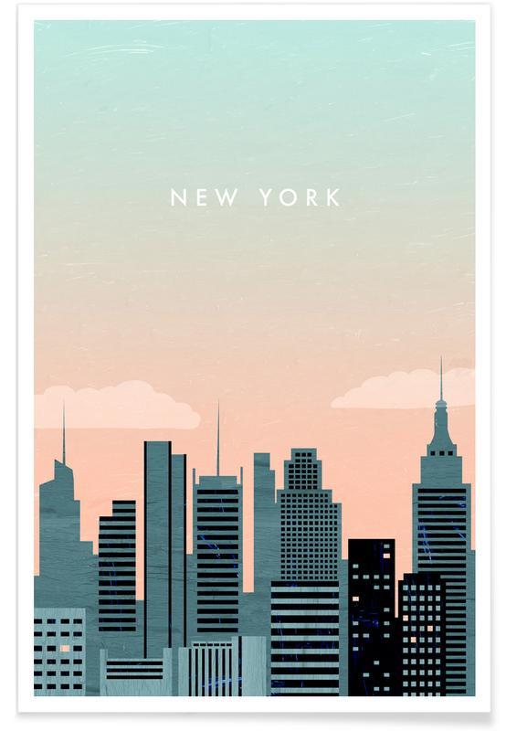Resor, Vintageresor, Retro New York Poster