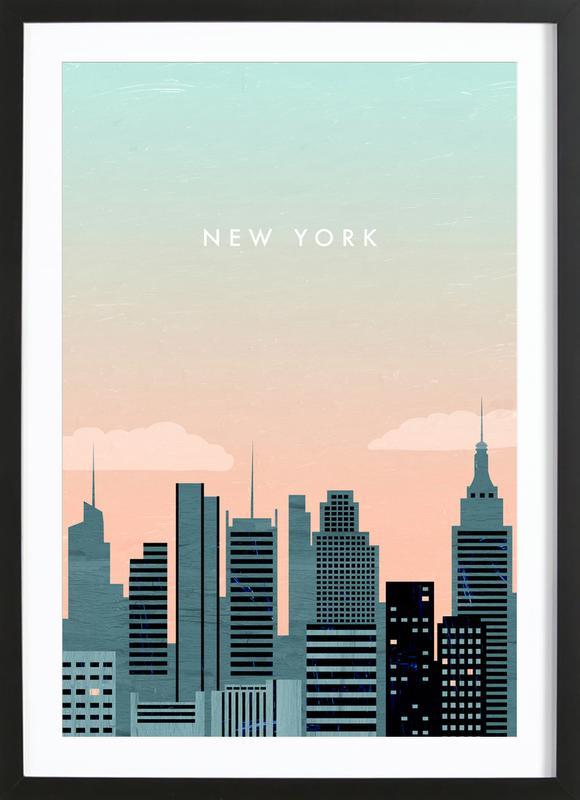 New York -Bild mit Holzrahmen