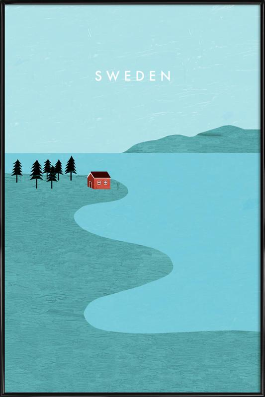 Schweden -Bild mit Kunststoffrahmen
