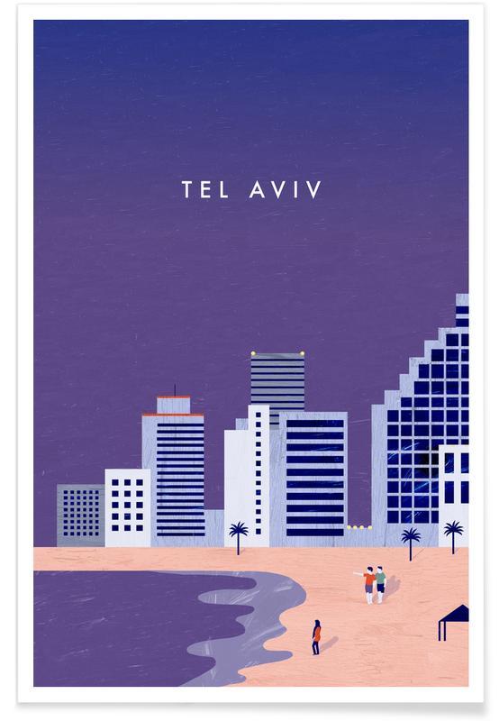 Travel, Vintage Travel, Retro Tel Aviv Poster