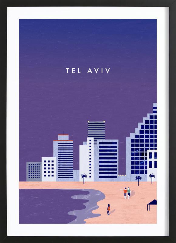 Tel Aviv -Bild mit Holzrahmen