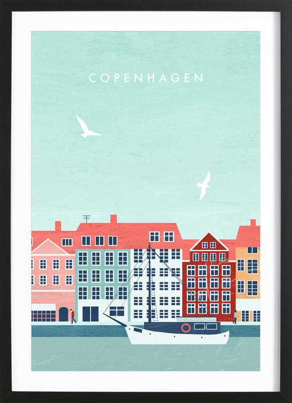 Kopenhagen Poster i träram