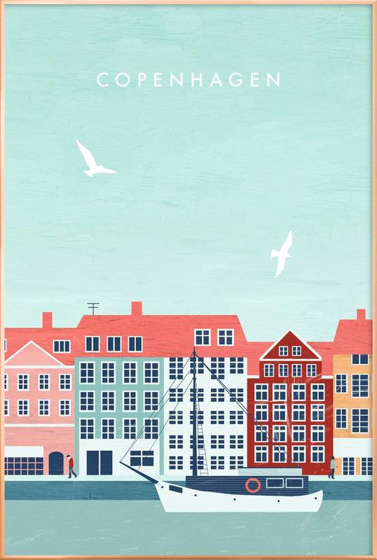 Kopenhagen Poster in Aluminium Frame