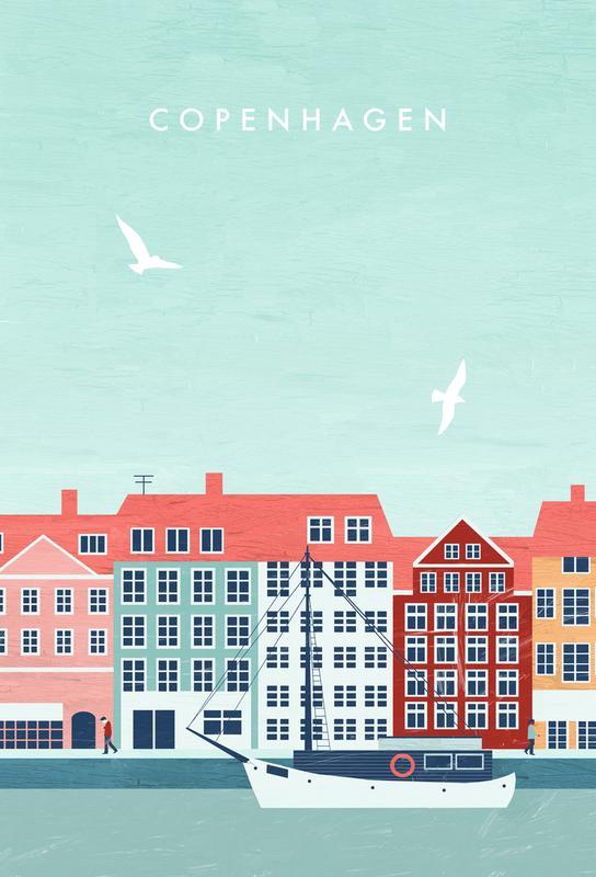 Kopenhagen -Acrylglasbild