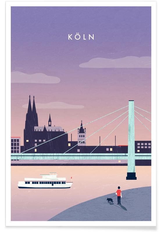 Travel, Vintage Travel, Retro Cologne Poster