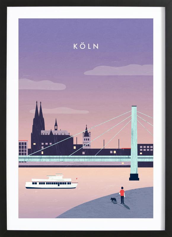 Köln -Bild mit Holzrahmen