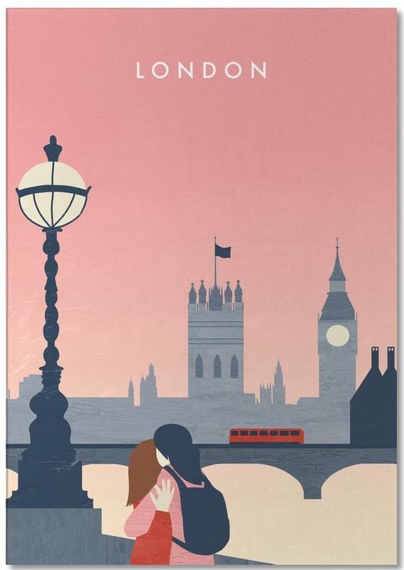 Travel, Vintage Travel, London Notepad