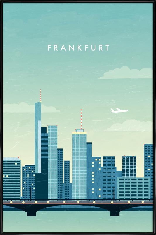 Frankfurt -Bild mit Kunststoffrahmen