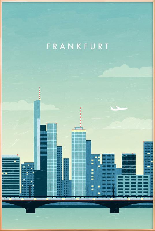 Frankfurt -Poster im Alurahmen