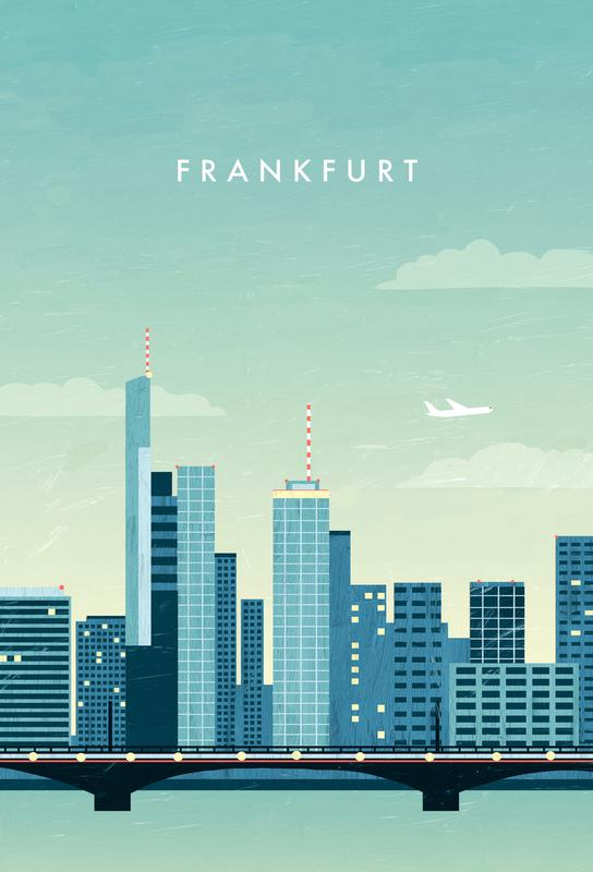 Frankfurt -Acrylglasbild