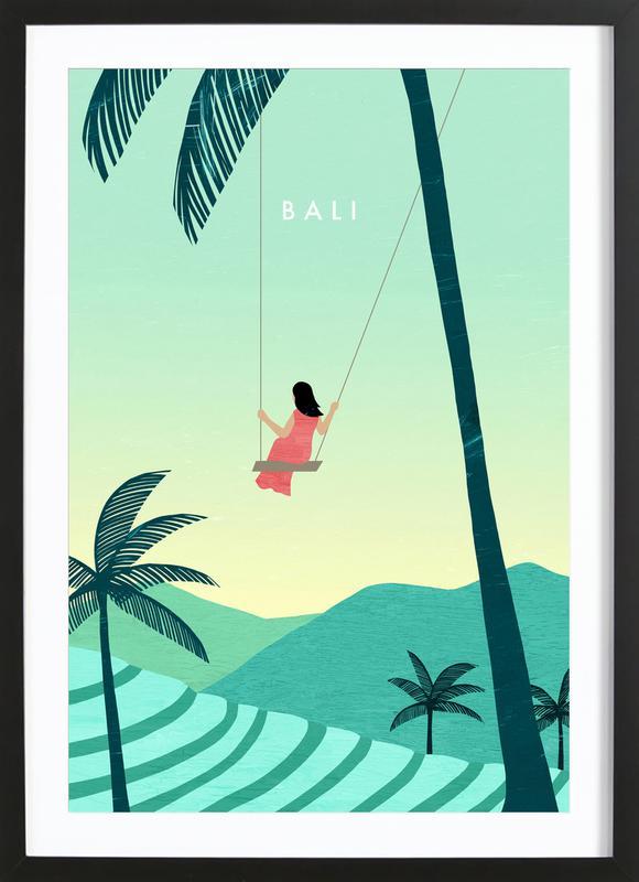 Bali -Bild mit Holzrahmen