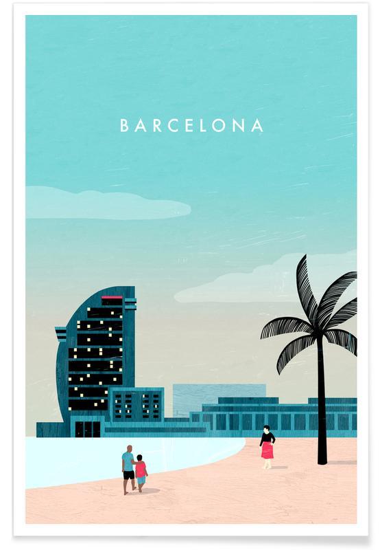 Retro-Barcelona -Poster