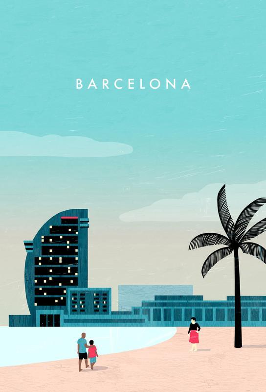 Barcelona Aluminium Print
