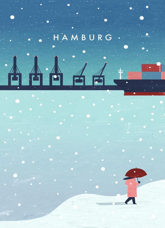 Hamburg Im Winter Canvas Print