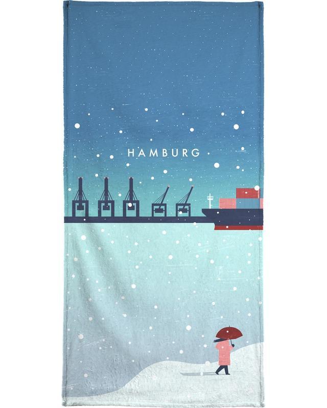 Hamburg Im Winter -Handtuch
